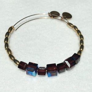 Alex & Ani Crystal and Gold Tone Bracelet